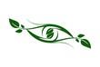 abstract eye plant leaf logo