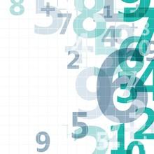 Mathematical Digital Code Background