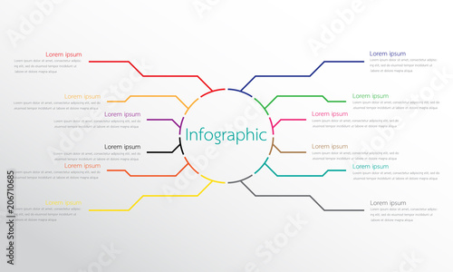 Papel de parede  Vector infographic templates used for detailed reports