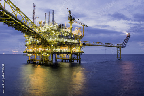 Oil and gas offshore platform.2018