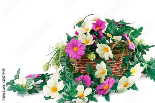 Tuinposter Bloemen Flowers in basket