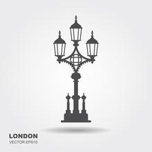 London Street Lantern Icon.