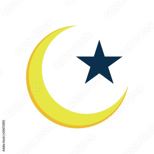 Crescent Star Islam Symbol Illustration Design Buy This Stock
