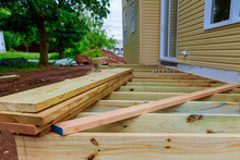 A New Wooden, Timber Deck Bein...