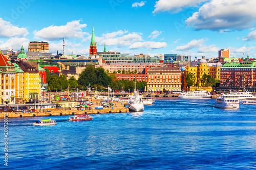 Foto op Plexiglas Europese Plekken Scenic summer panorama of Stockholm, Sweden