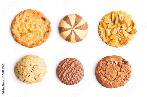 Foto op Plexiglas Koekjes Different types of sweet cookies.