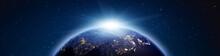 Planet Earth Sunrise Panorama....