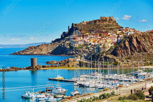 Photo  Castelsardo village in Sardinia, Italy