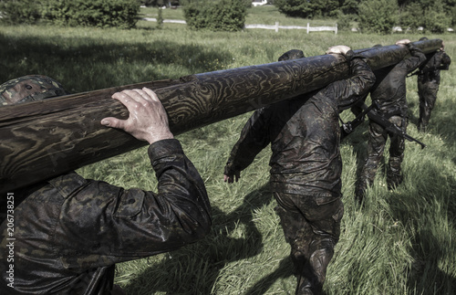 Cuadros en Lienzo Special Forces military training for soldiers
