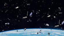 Space Debris In Earth Orbit, D...