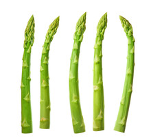 Fresh Green Asparagus Isolated...