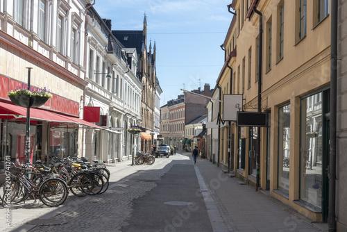 Staande foto Madrid Shopping street in Lund Sweden