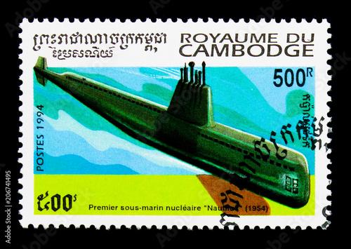 Poster  Nuclear-powered Nautilus, Submarines serie, circa 1994