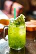 fruit lemonade in bar