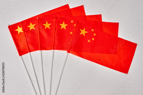 Fotografie, Obraz  Collection of chinese flags