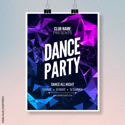 dance music party template dance party flyer brochure party club