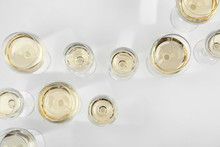 Glass Of Expensive White Wine ...