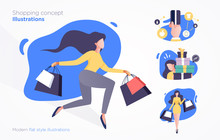 Set Of Shopping Concept Illust...