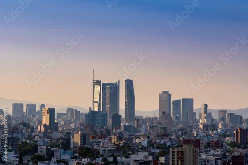 Poster Océanie Mexico city Skyline