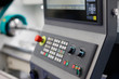 control panel of the CNC lathe machine