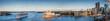 Leinwanddruck Bild Panoramic view of Sydney Harbour and city skyline, Sydney NSW, Australia