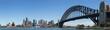 Leinwanddruck Bild Panoramic view of Sydney skyline and harbour, Sydney, New South Wales, Australia