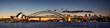 Leinwanddruck Bild Sydney harbour at dusk, Sydney NSW, Australia