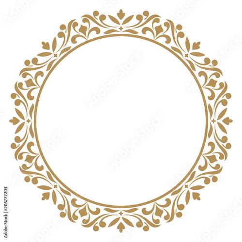Decorative frame  Elegant vector element for design in