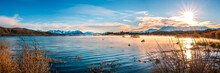 Autumn Color Of Lake Tekapo, New Zealand.