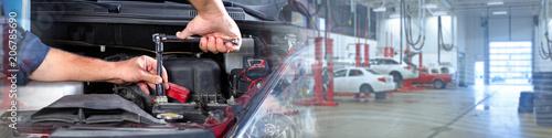 Car mechanic repair. Fototapete