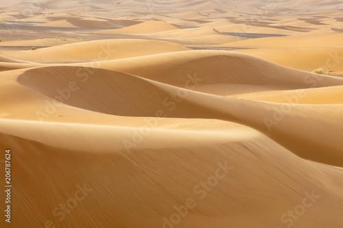 sand hills in Sahara desert in Morocco