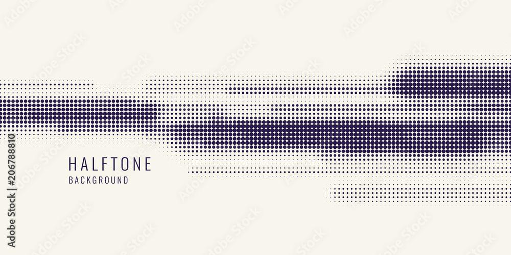 Fototapeta Monochrome printing raster, abstract vector halftone background. monochrome texture of dots.