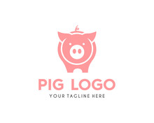 Modern Simple Pig Logo Animal ...