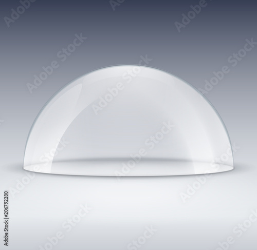 Glass dome container mock-up Fototapeta
