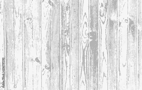 Tuinposter Hout White wooden planks, table, floor surface. Cutting chopping board. Wood texture. Vector illustration