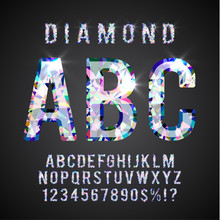 Colorful Diamond ABC. Gemstone...