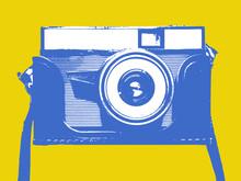 Illustration Of Vintage Still Photography 35 Mm Camera