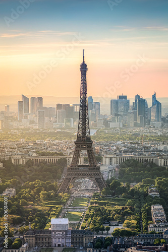 Photo sur Toile Europe Centrale Eiffelturm in Paris, Frankreich
