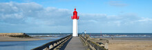 Panorama Of The Lighthouse Of Trouville, Normandy, FrancePapa, Meaning Happy Fathers Day In French