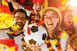 canvas print picture - Deutsche Fussball Fans im Weltmeisterschaft Fieber