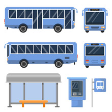 Illustration Of Bus Stop. And ...