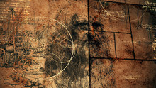 Code Da Vinci, Portrait And Wise Texts