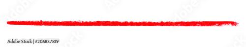 Breiter Kreidestreifen rot