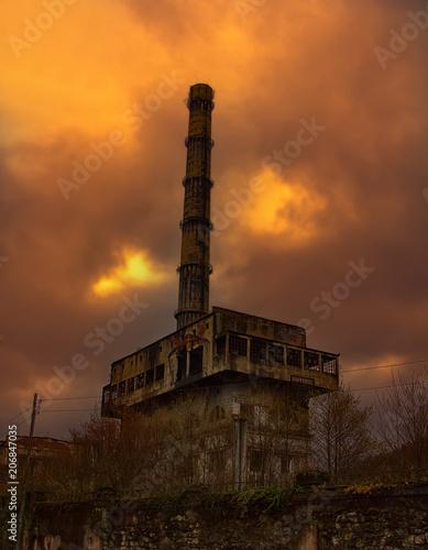 Foto op Aluminium Oude verlaten gebouwen Abandoned factory in mountains.