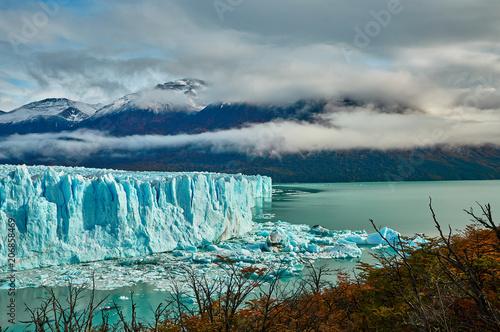Aluminium Prints Glaciers A view of the lake and glacier Perito Moreno national park Los Glaciares. The Argentine Patagonia in Autumn.