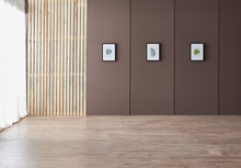 Decorative Brown Wall And Background Frame And Windows Style For Carpet And Parquet