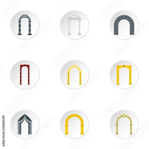 Tableau sur Toile Archway icons set