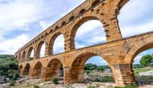 Roman Arch On A Beautiful Park