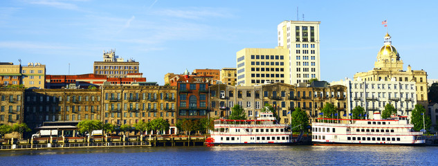 Panoramic view of Savannah, Georgia, USA