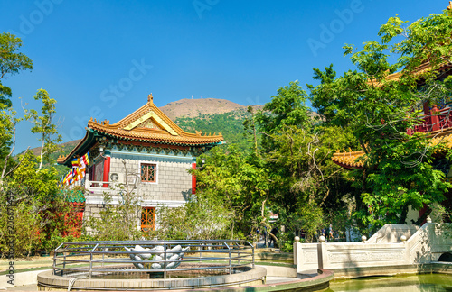 Tuinposter Aziatische Plekken Po Lin Monastery located on Ngong Ping Plateau, on Lantau Island, Hong Kong